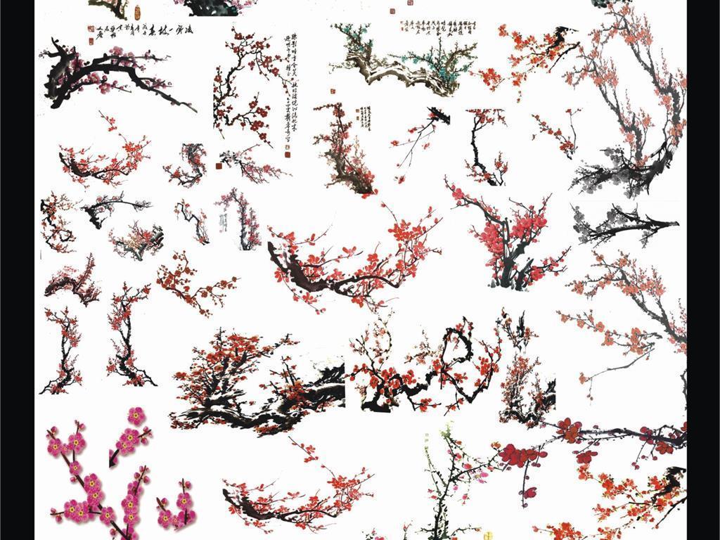 古风手绘图片花瓣