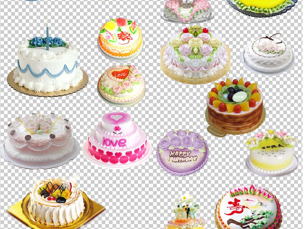 透明背景png格式背景png图手绘矢量图免抠图高清晰素材生日蛋糕