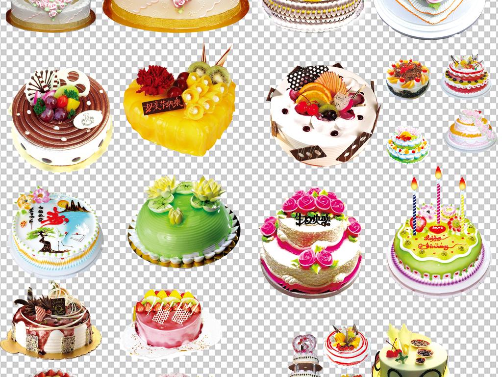 透明背景png格式背景png图手绘矢量图免抠图高清晰素材生日蛋糕元素