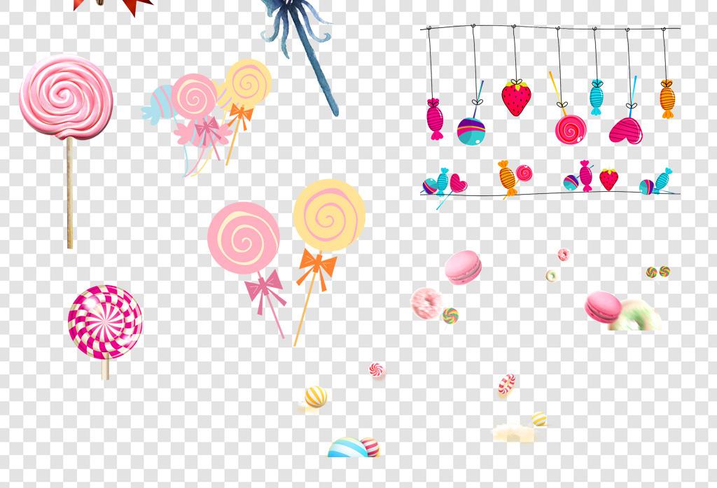 设计元素 其他 装饰图案 > 卡通手绘糖果棒棒糖png海报素材  卡通手绘