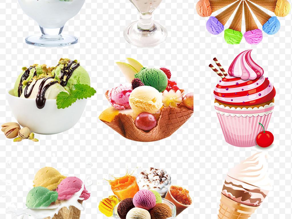 夏日冷饮冰淇淋冰激凌甜筒圣代冰沙png