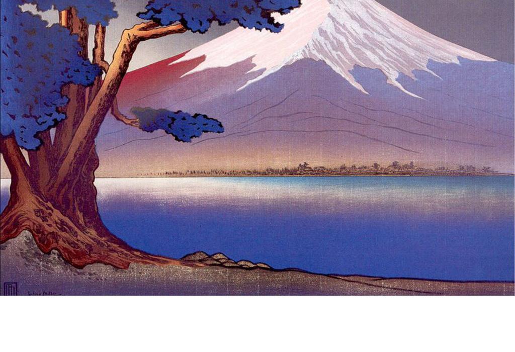 手绘日式富士山复古图片设计素材_高清模板下载(71.45