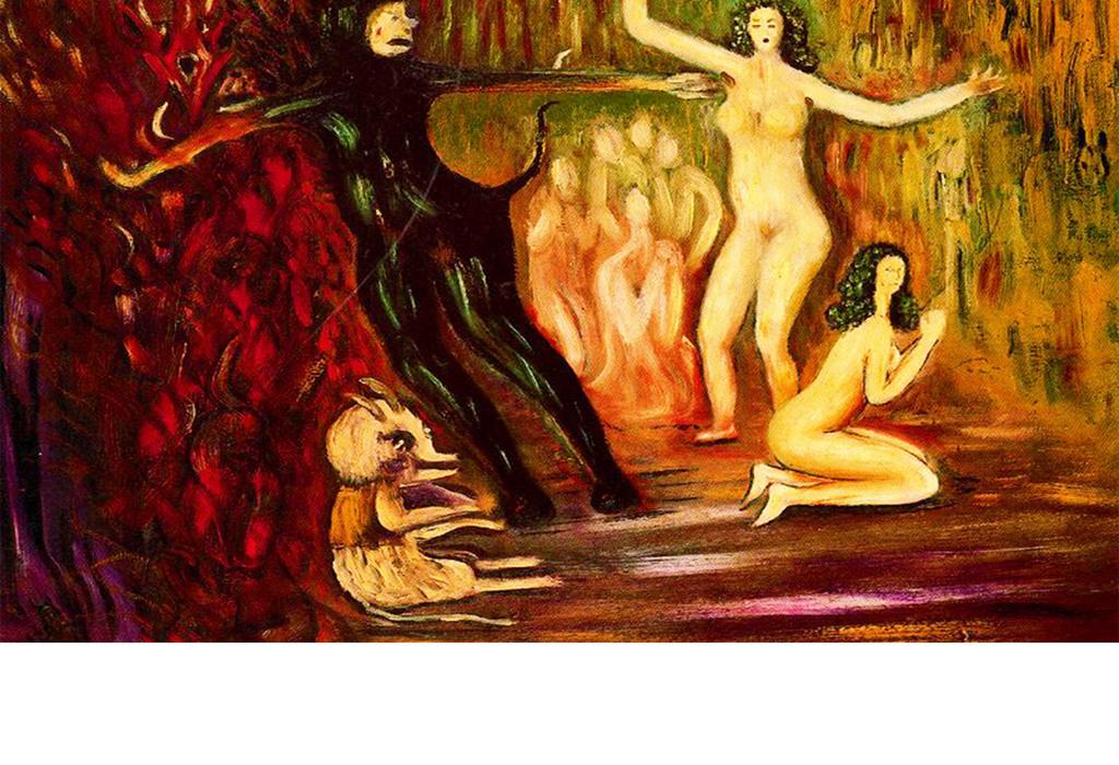 手绘裸体女人德意志抽象