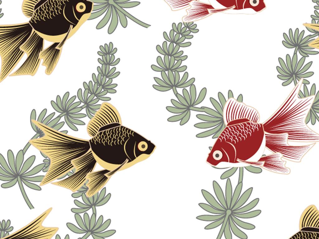 家纺四件套面料定位印花设计元素