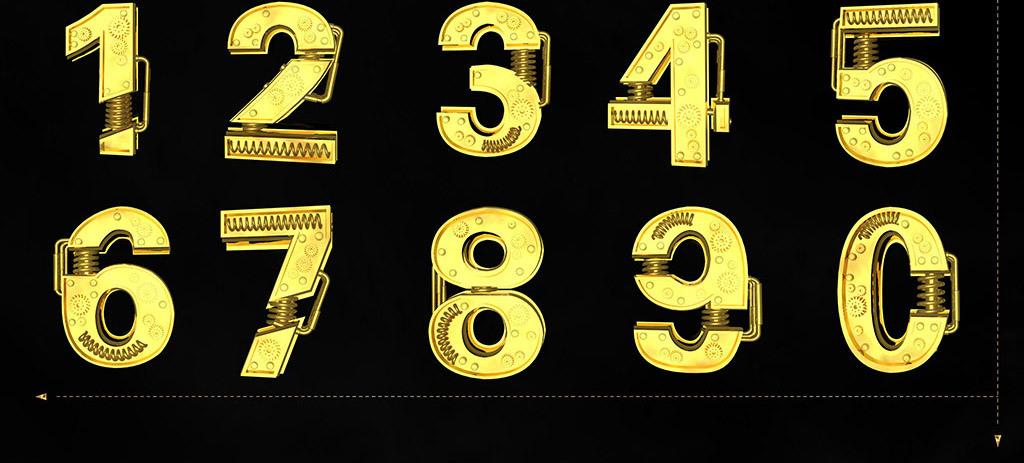 金属3d立体机械字