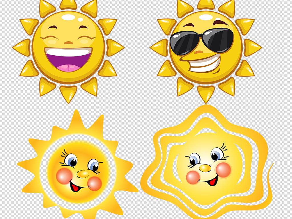 卡通手绘太阳图案png设计素材