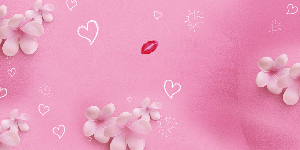 时尚唯美粉饰小花展板背景