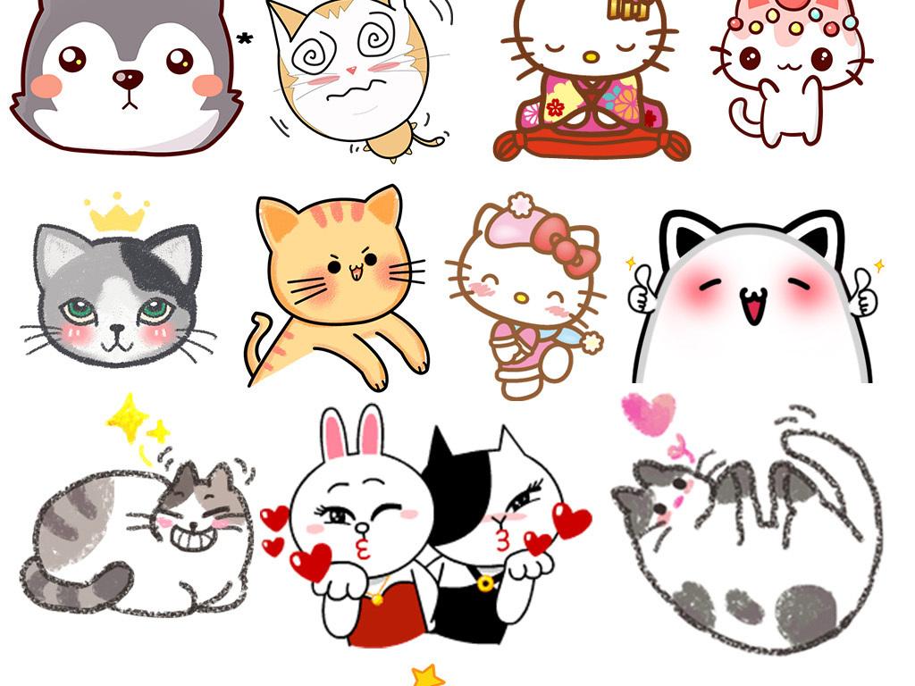 宠物猫                                          儿童画手绘