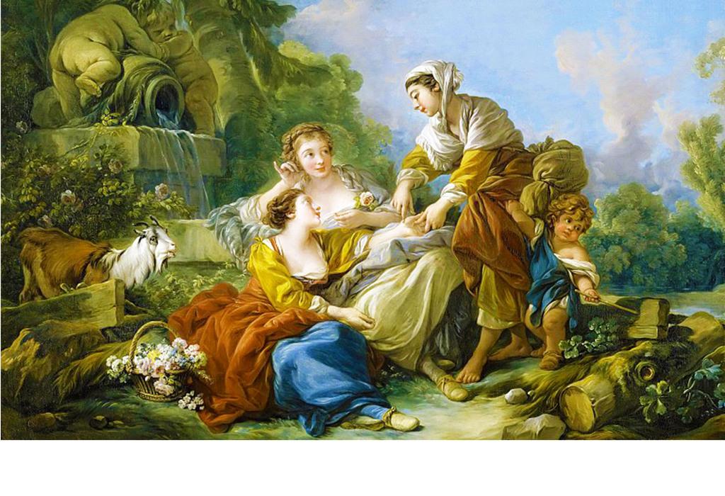 爱尔兰女郎贵族侍女手绘