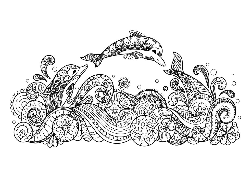 各种海豚简笔画