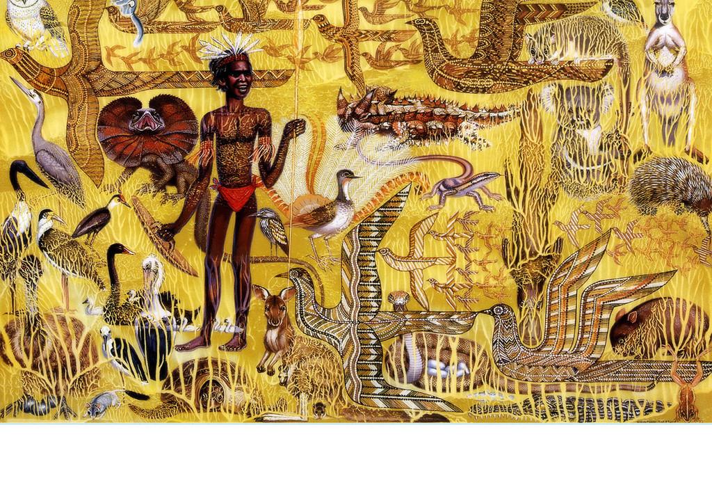 非洲土著文字_手绘非洲土著复古墨西哥