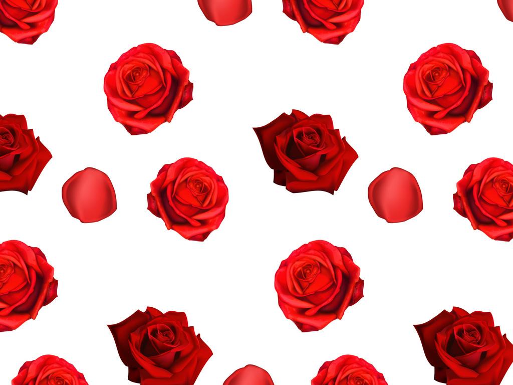 新款手绘玫瑰花矢量图无缝设计