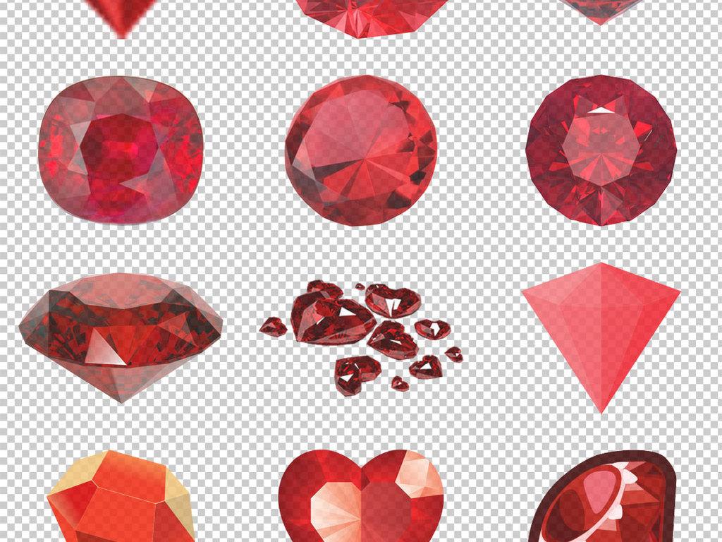 各种红宝石免抠png透明图层素材图片