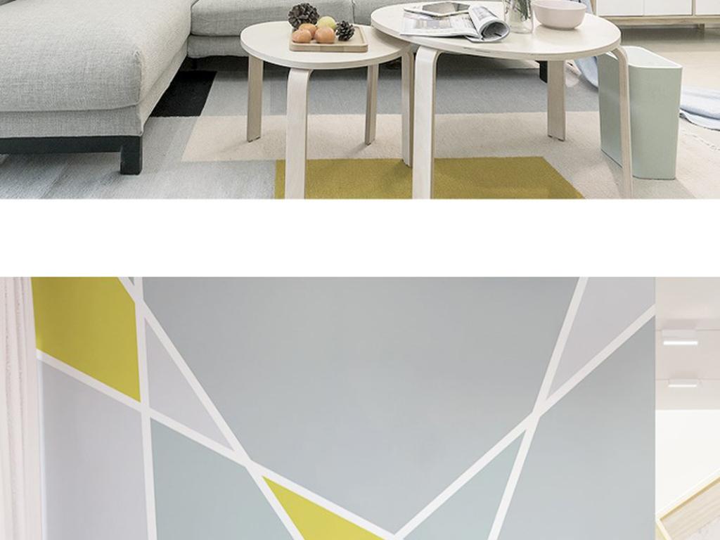 背景墙|装饰画 电视背景墙 手绘电视背景墙 > 现代时尚北欧几何三角