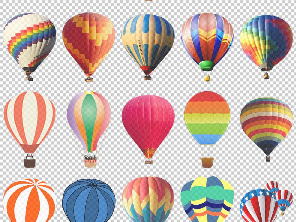 png)                                  热气球素材热气球卡通画3d热