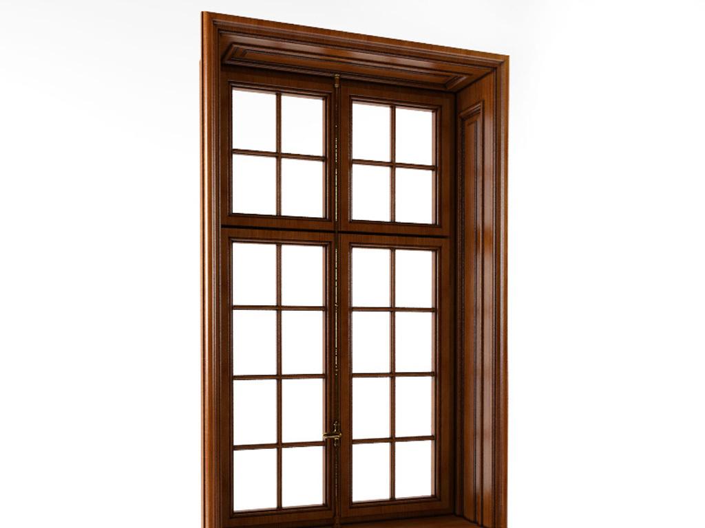 中式实木窗户3d模型含贴图