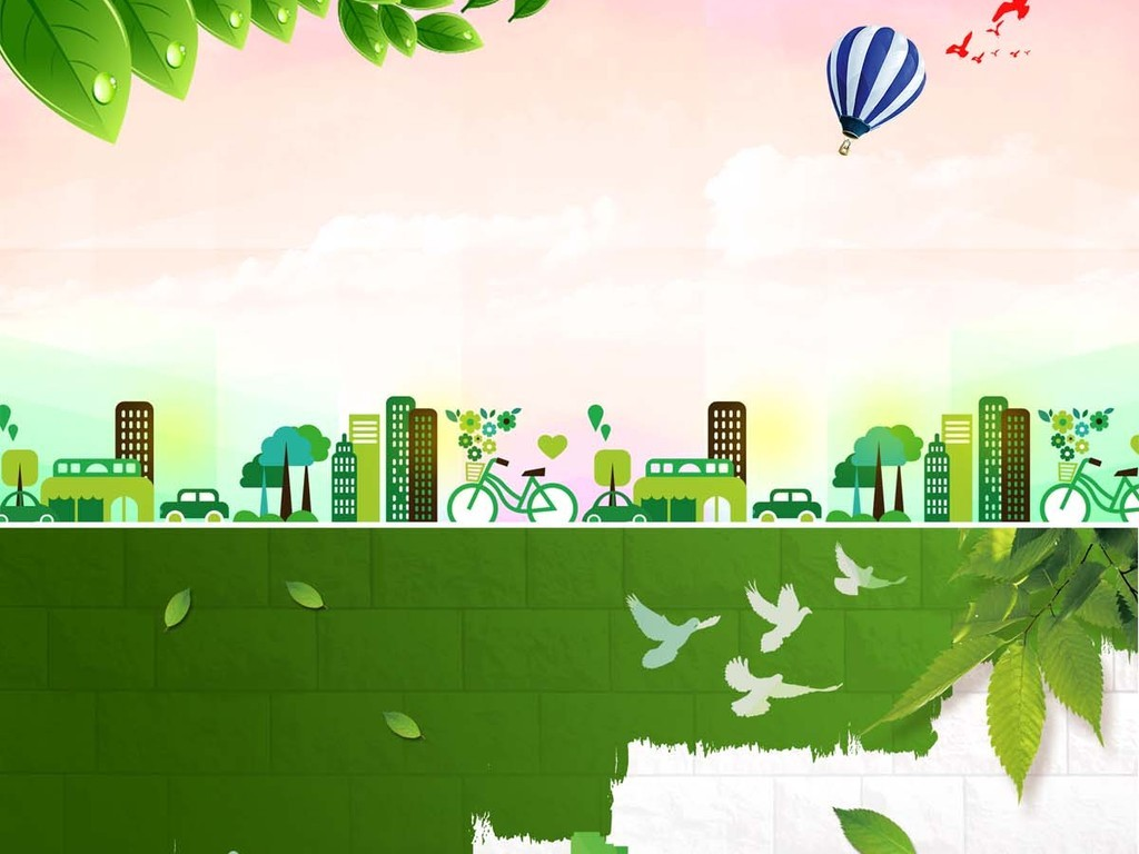 设计元素 其他 效果素材 > 绿色城市海报psd模板  绿色城市海报psd