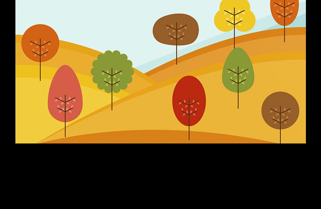创意手绘秋分节气海报