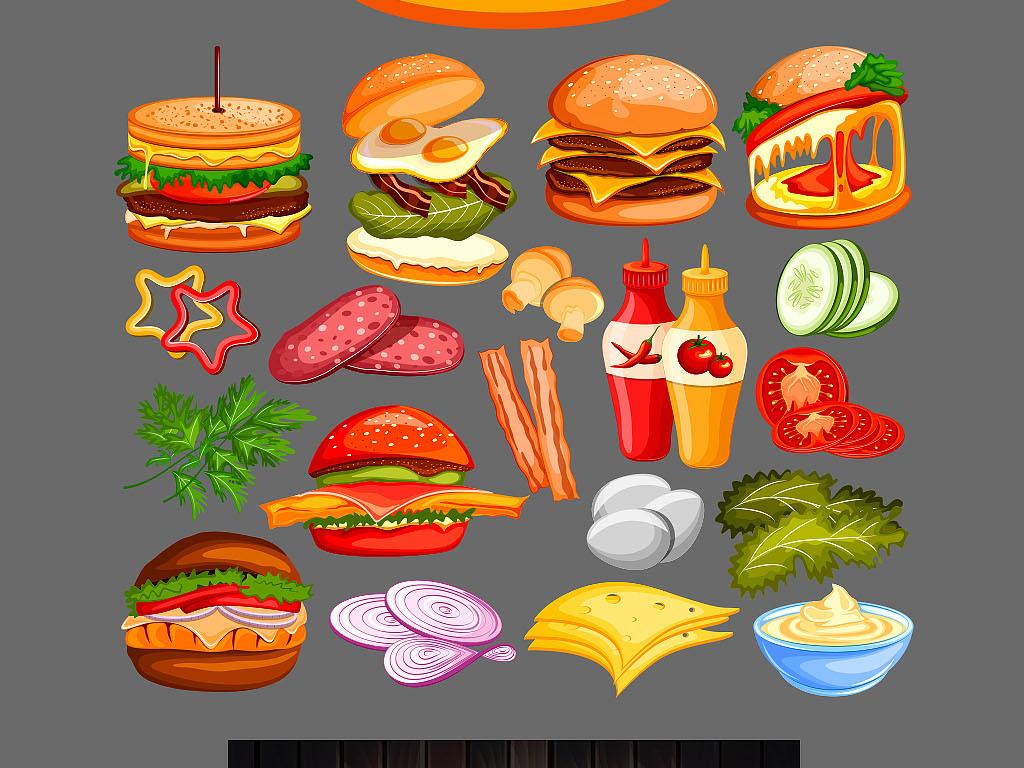 黑板粉笔手绘冷饮店奶茶店咖啡店菜单汉堡