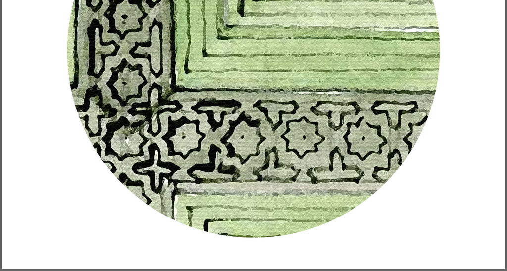 现代简约欧式手绘水彩古堡建筑装饰画
