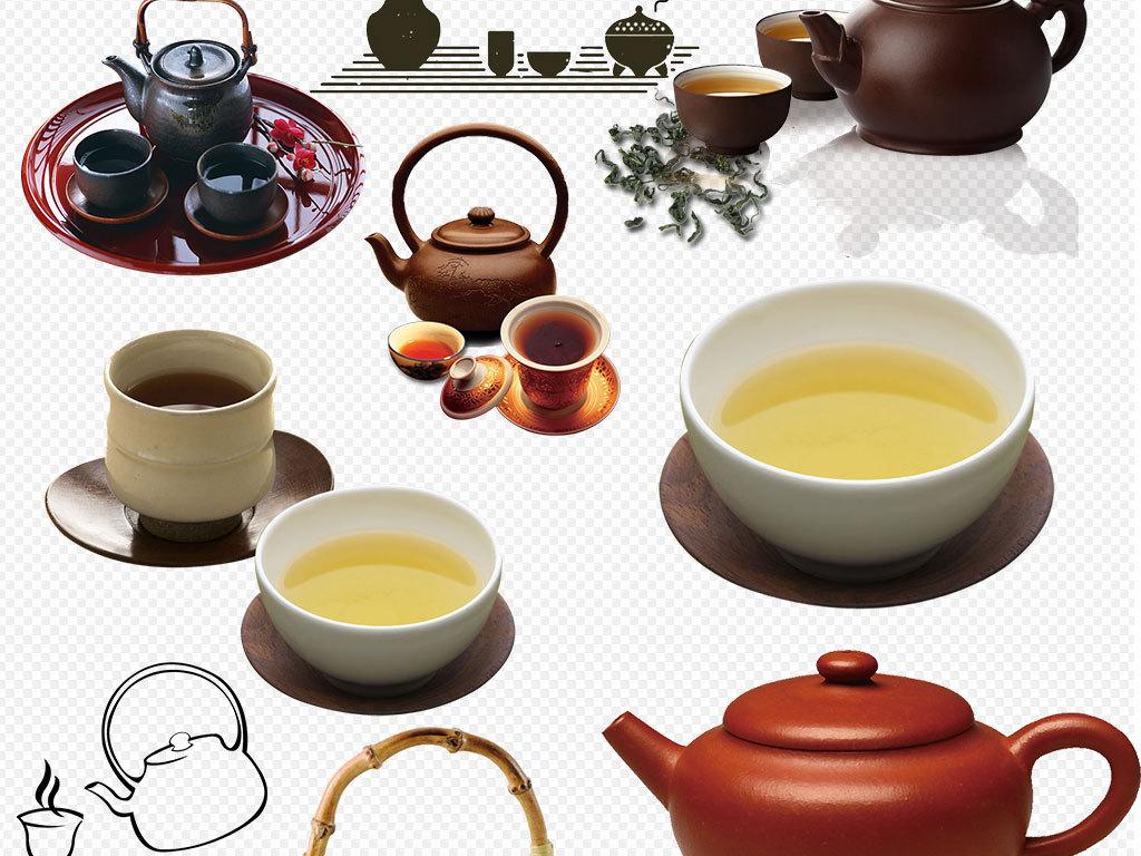 中国风茶杯茶壶茶具png素材