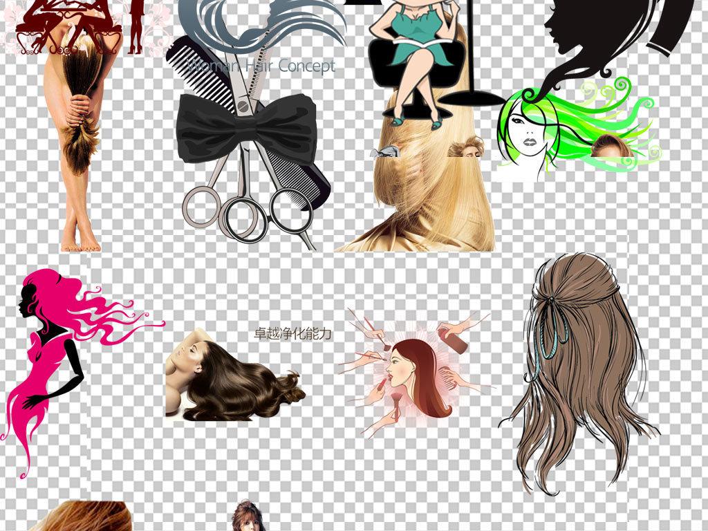 时尚美女美发美容美发头发理发女性发型