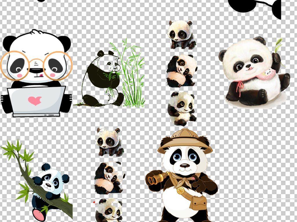 萌大熊猫可爱熊猫                                  卡通熊猫熊猫布