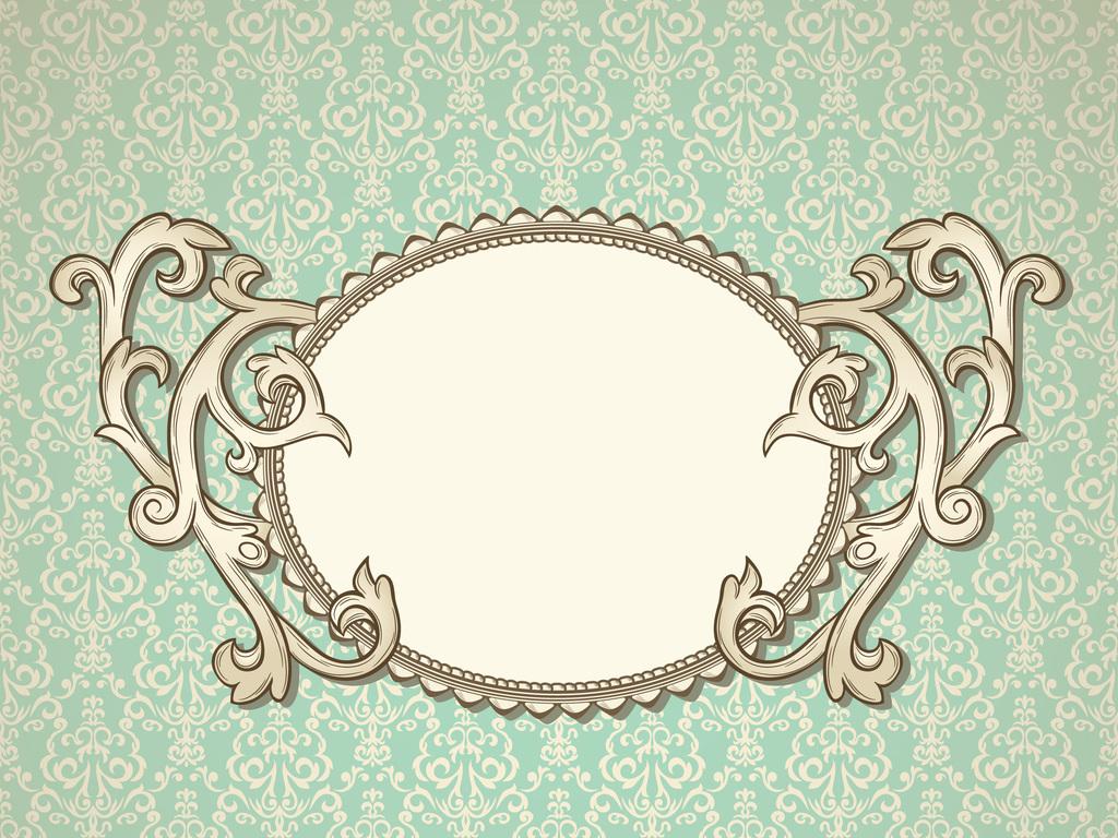 新款矢量图欧式底纹边框设计图片