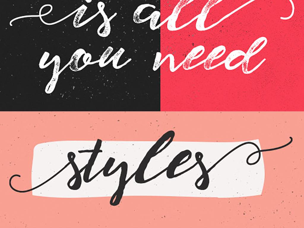 电商设计 字体 艺术字体 > t恤手写英文字母字体签名个性字体115图片