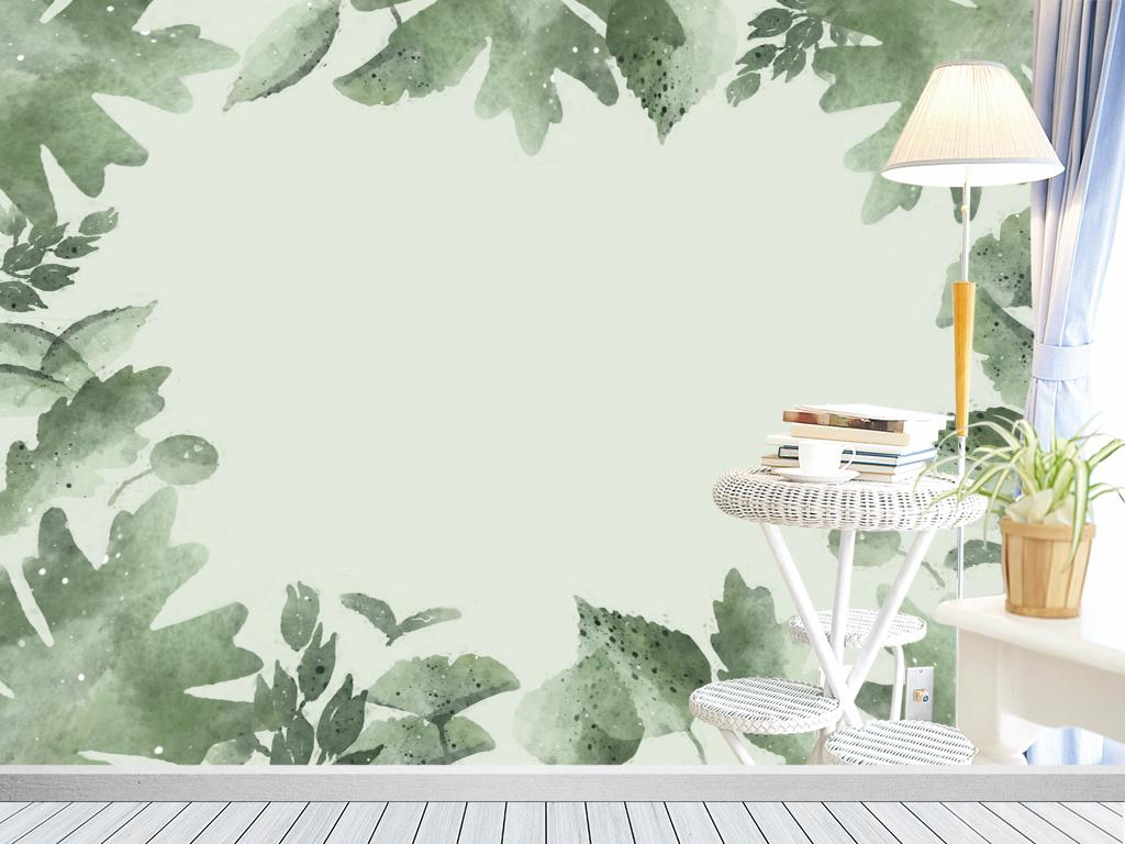 背景墙|装饰画 电视背景墙 手绘电视背景墙 > 北欧现代树叶叶子花瓣