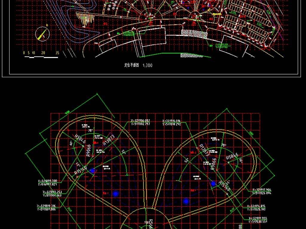 某酒店园林景观CAD平面图