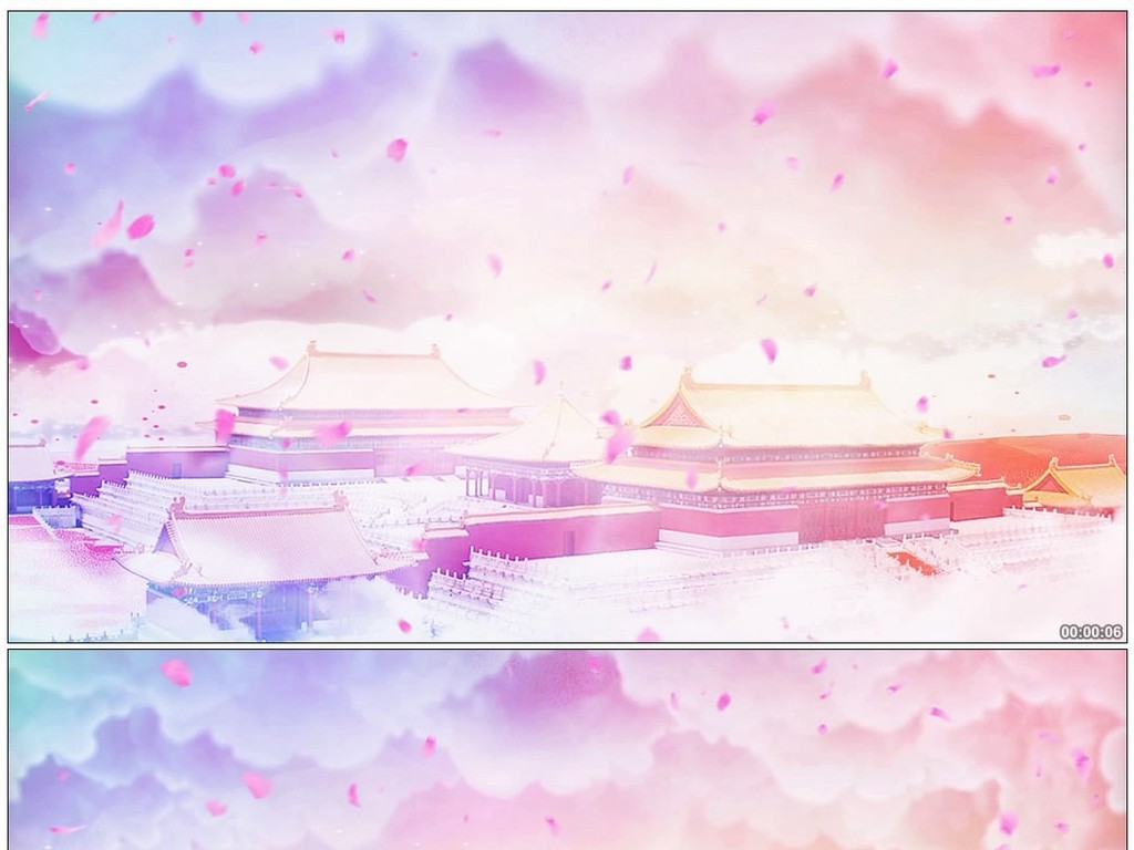天宫皇宫宫殿唯美背景图片