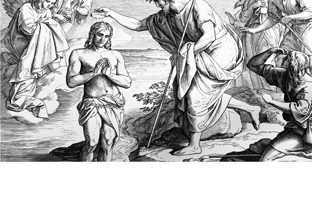 欧式手绘教皇十字架素描背景墙