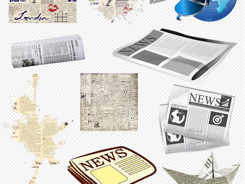 资讯_卡通报纸新闻中心资讯杂志看报纸素材下载