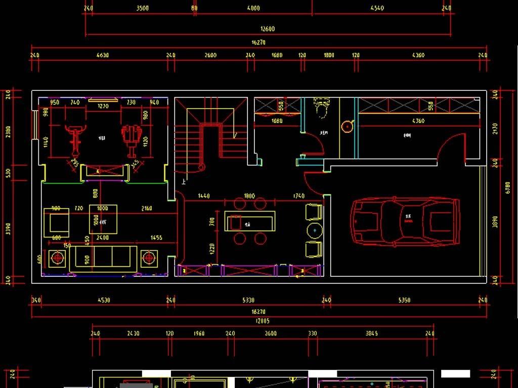 全套别墅家装cad图纸平面设计图下载(图片18.71mb)__.