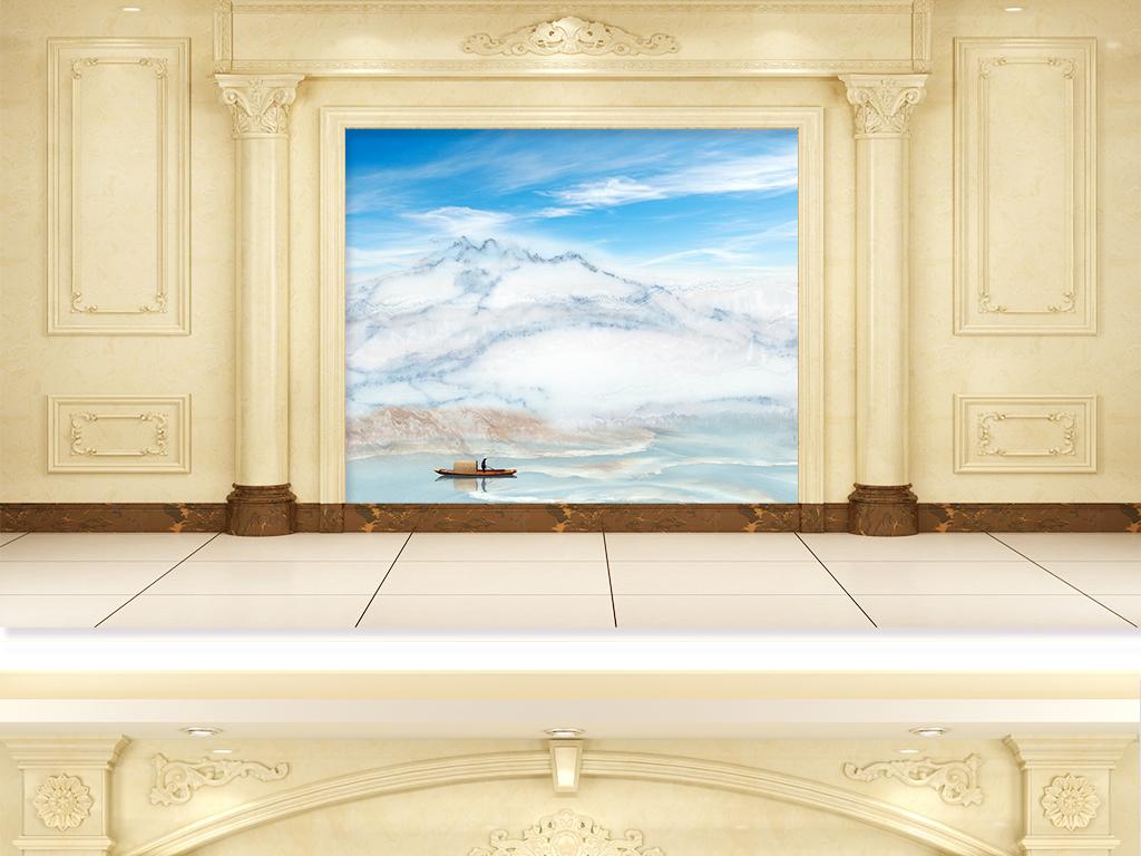 背景墙 电视背景墙 大理石背景墙 > 奢华欧式大理石纹理山水画背景墙图片