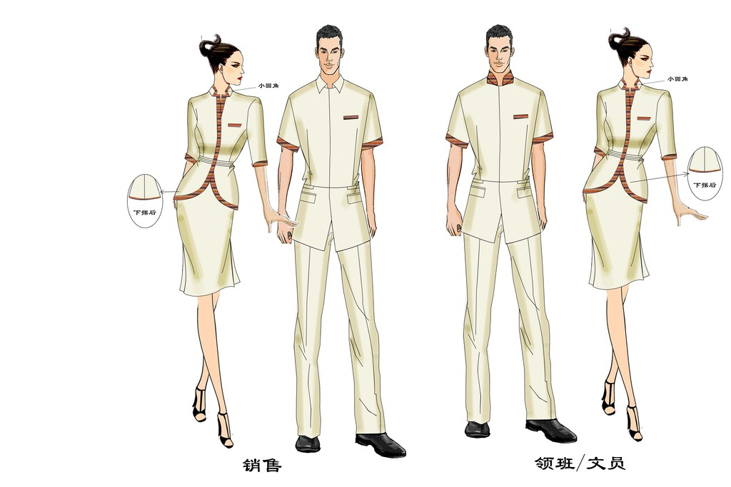 领经理高级管理职业装PSD模板效果图图片下载psd素材 上衣设计