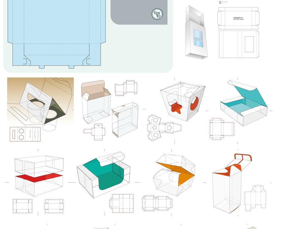 产品包装盒展开图设计图片