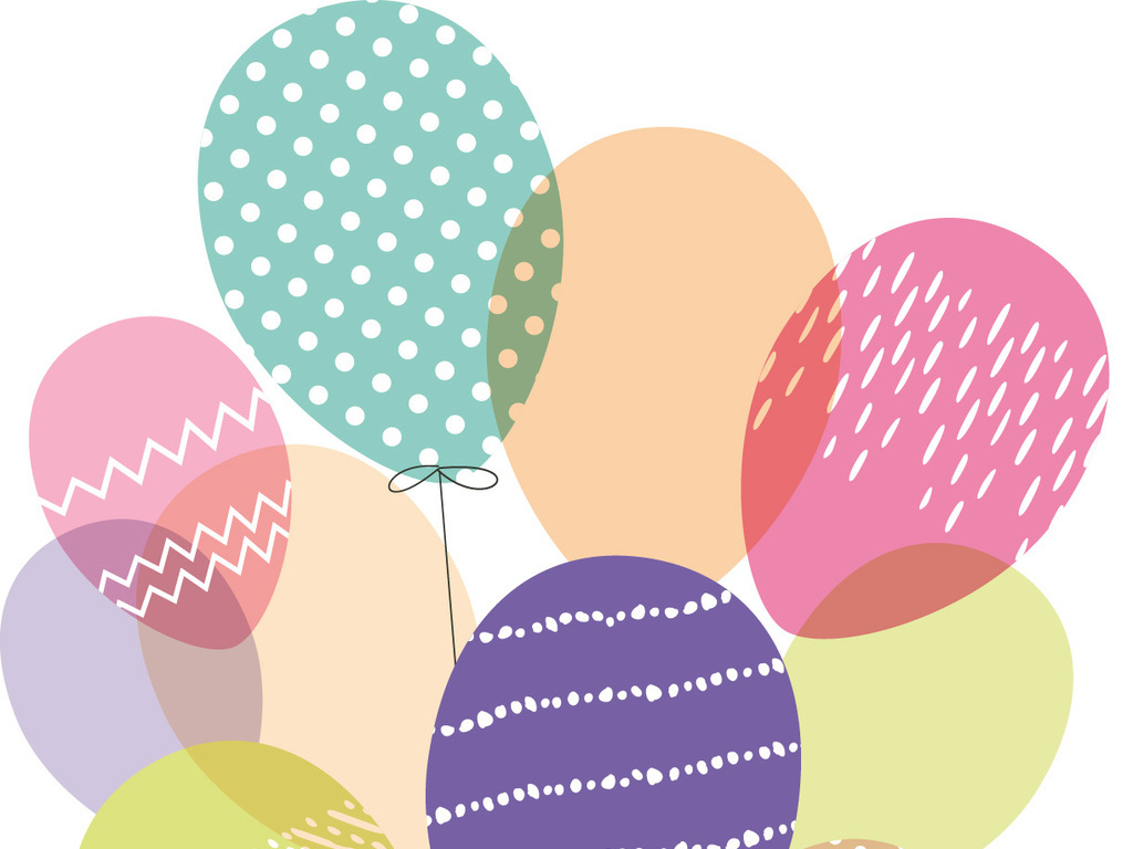 手绘小朋友生日贺卡图案设计生日图片下载ai素材 其他图片