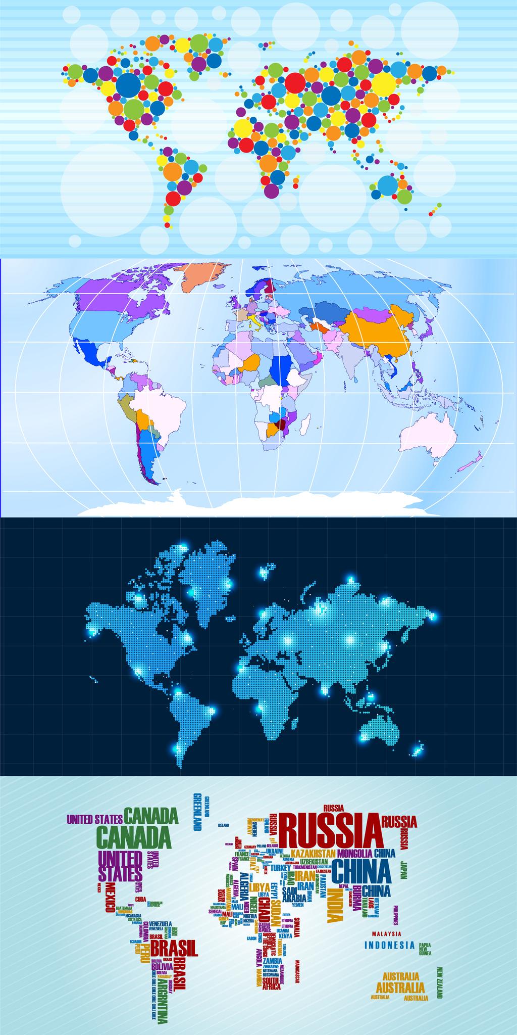 世界地图展板背景