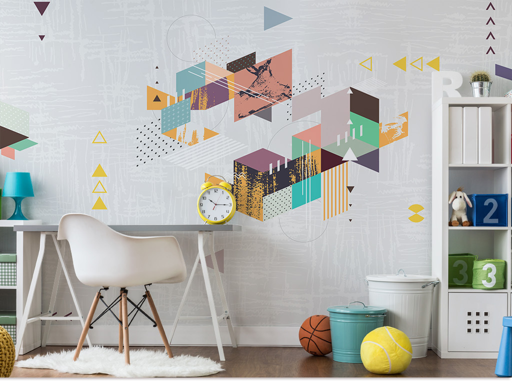 背景墙|装饰画 电视背景墙 手绘电视背景墙 > 北欧风现代创意艺术几何