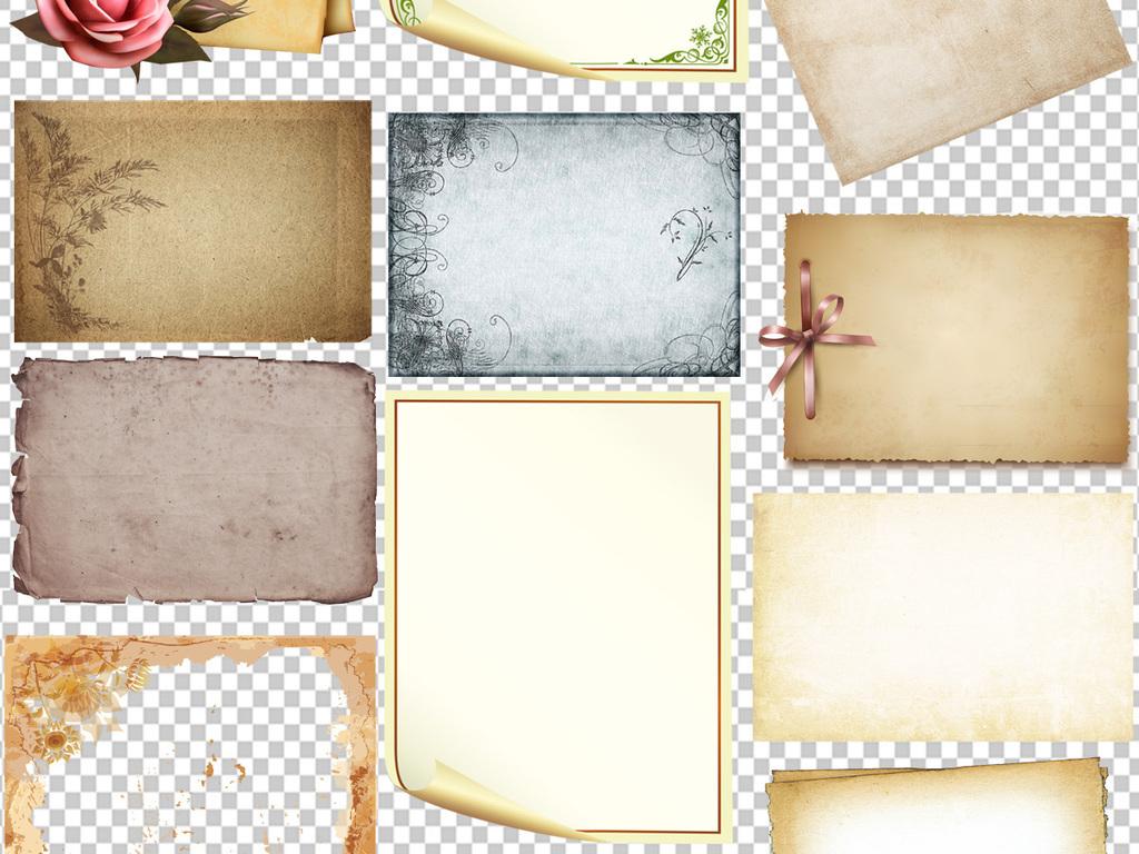 古老复古怀旧牛皮纸背景素材图片下载png素材 其他图片