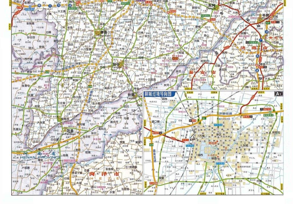 聊城市地图高清大图