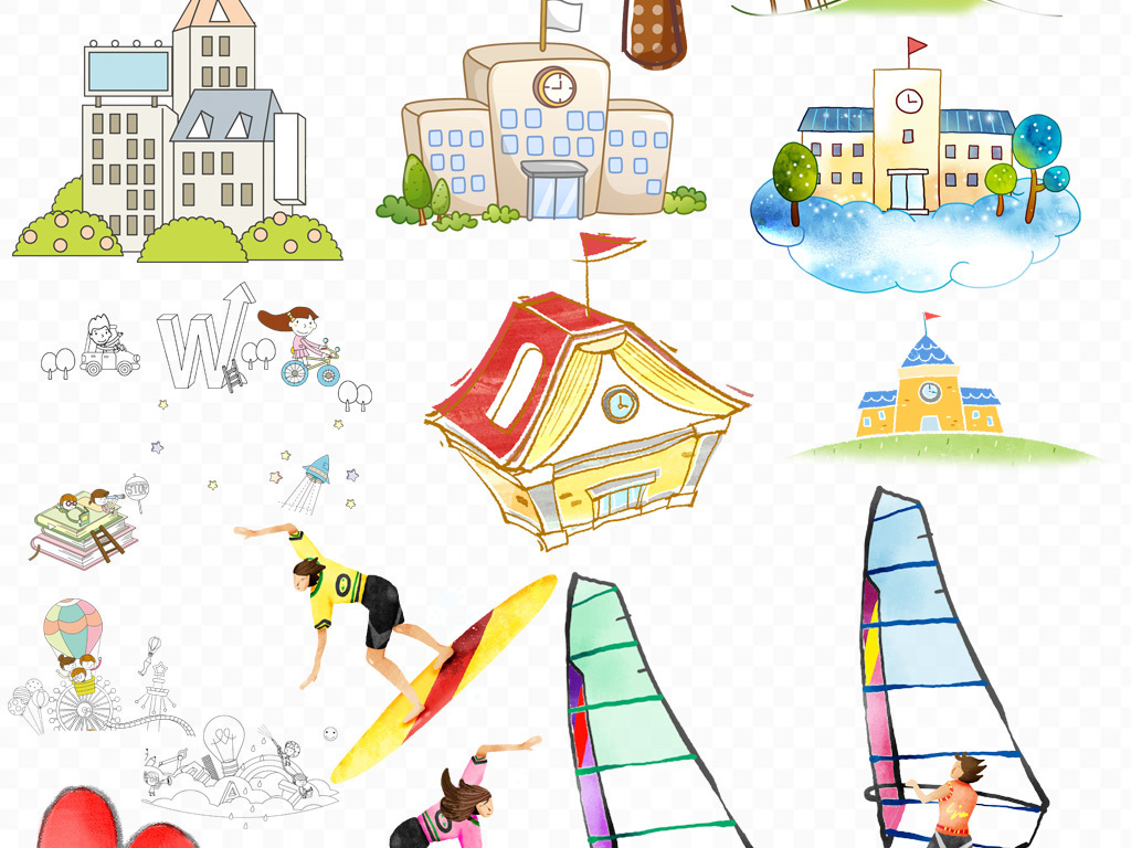 手绘清新卡通人物人物素材可爱可爱卡通卡通素材人物素材卡通可爱人物