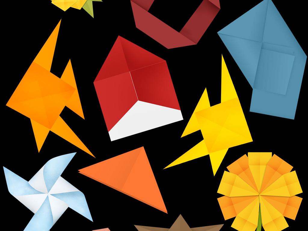 卡通纸张折叠动物折纸折纸图片折纸艺术折纸宣传折纸飞机创意素材折纸