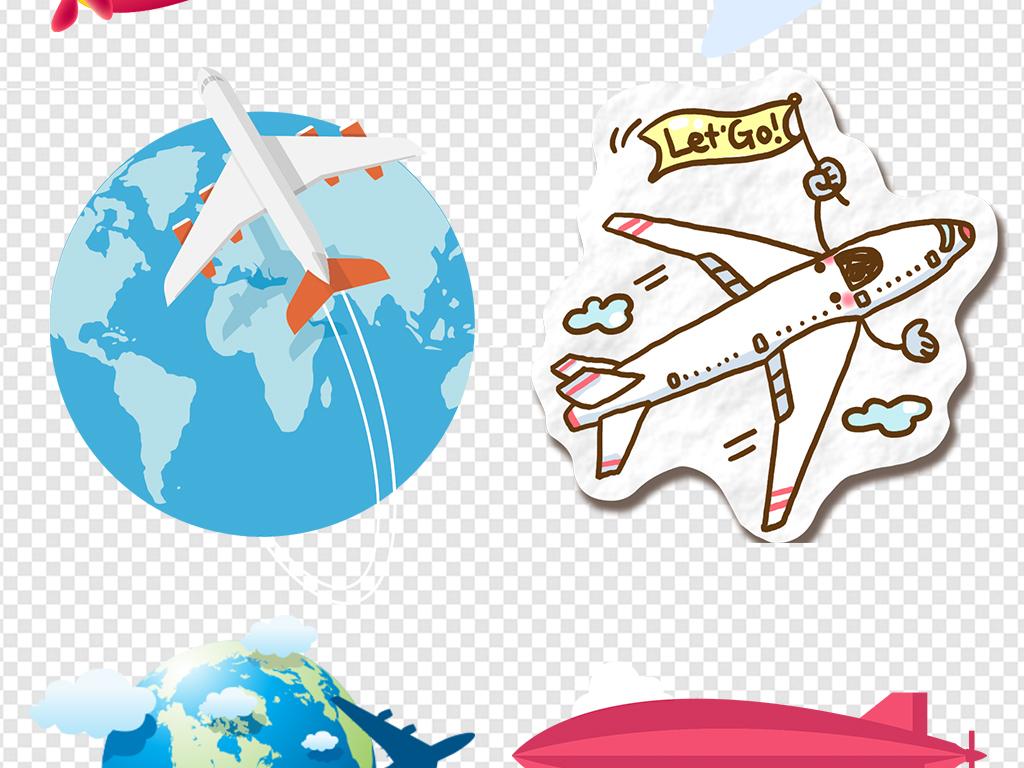 路线飞机横幅飞机地球卡通飞机童趣卡通旅游卡通童趣飞机卡通旅游卡通