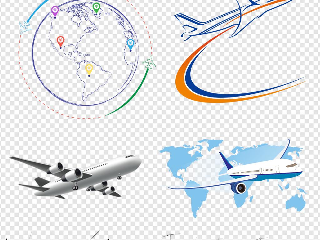 卡通飞机起飞航行旅行旅游图片素材