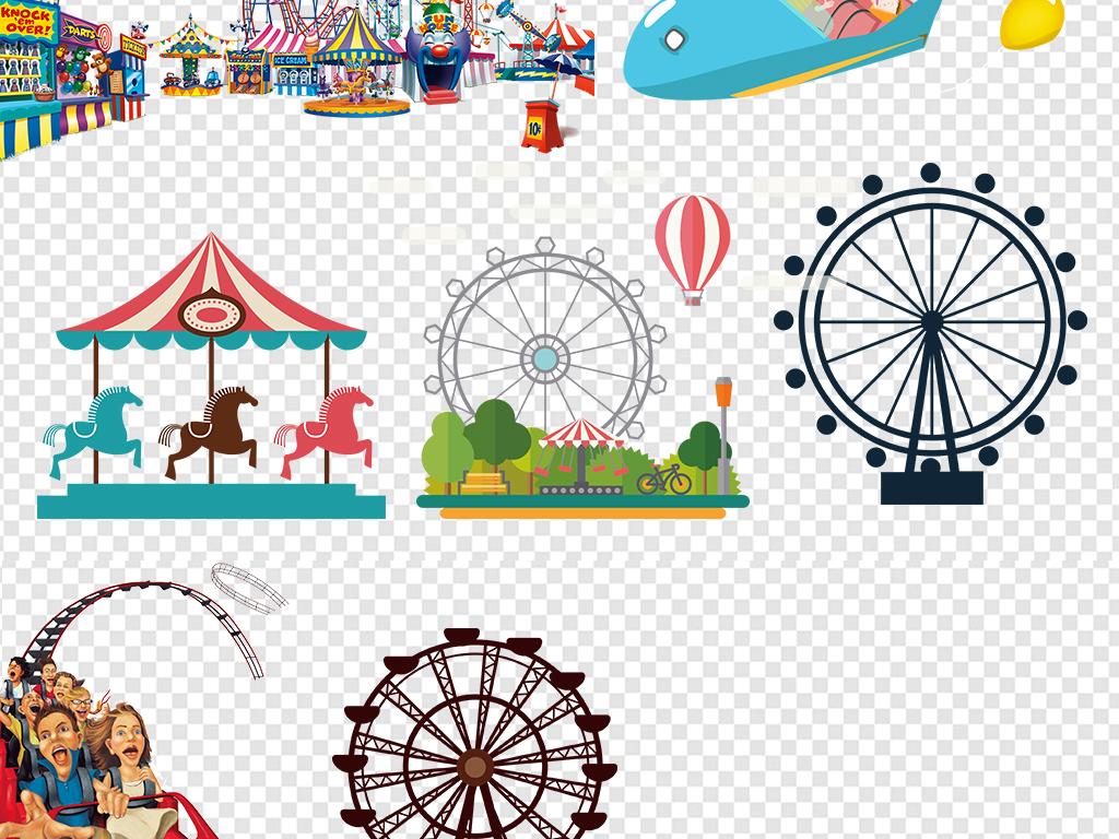 游乐园设施手绘游乐园