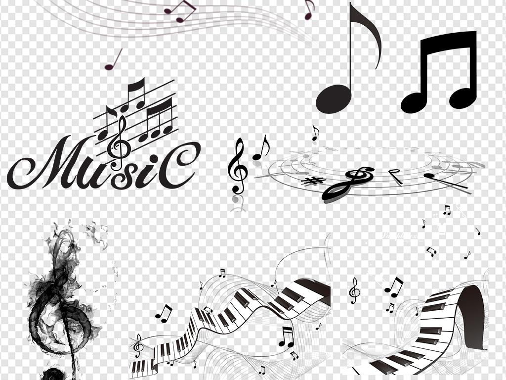 钢琴手绘png