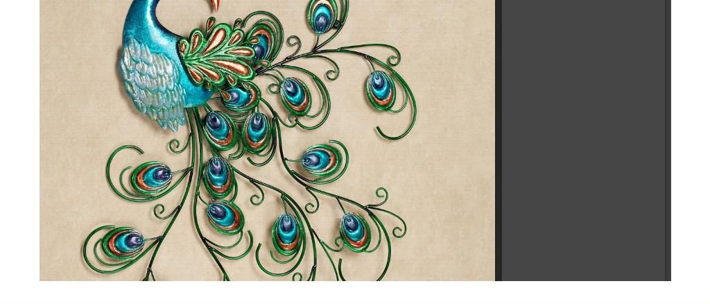欧式复古高档手绘油画孔雀北欧五联装饰画